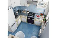 Кухня 5 кв.м с вертикальным блоком у входа
